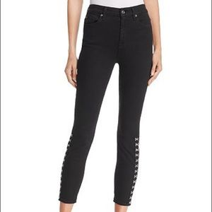 7 For All Mankind Hook and Eye Black Jeans